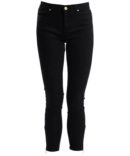 Women's Barbour International Durant Cropped Jeans - Black