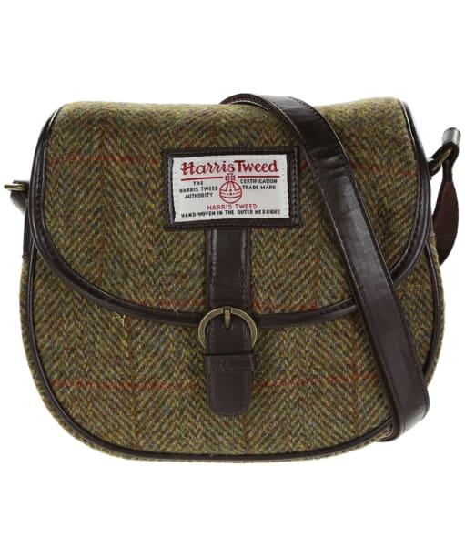 Women's Heather Moira Harris Tweed Saddle Bag - Olive / Gold