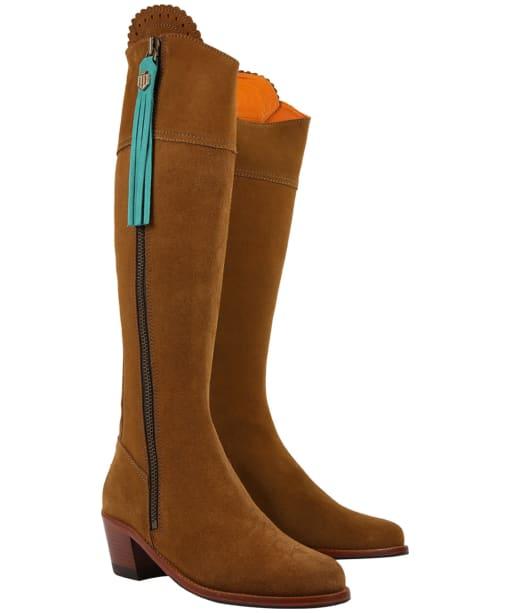 Women's Fairfax & Favor Boot Tassels - Aquamarine Suede