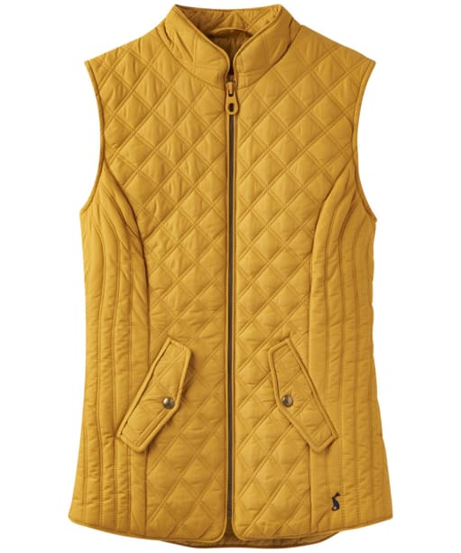 Women's Joules Minx Quilted Gilet - Antique Gold