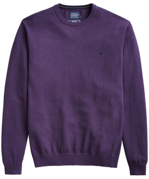 Men's Joules Jarvis Crew Neck Sweater - Purple Marl