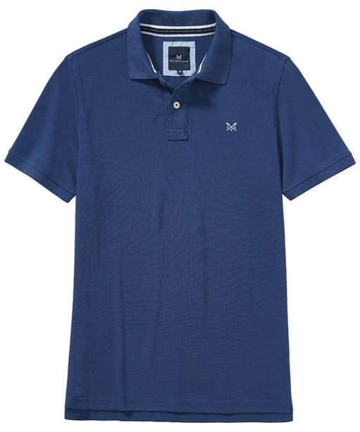 Men's Crew Clothing Classic Pique Polo Shirt - Indigo