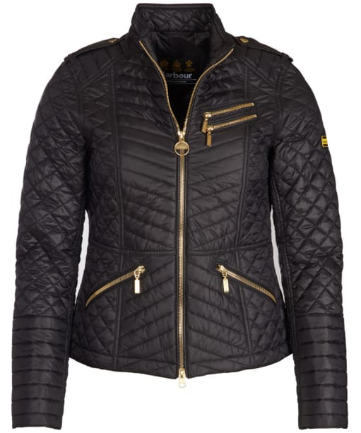 Women's Barbour International Weld Quilted Jacket - Black