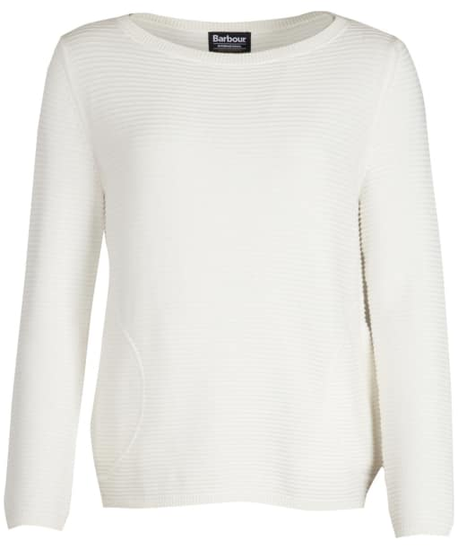 Women's Barbour International Aragan Knitted Sweater - Off White