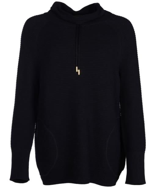 Women's Barbour International Aubern Knitted Sweater - Black