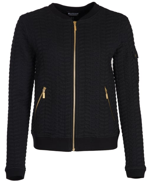 Women's Barbour International Aragan Sweater Jacket - Black