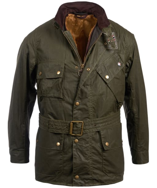 Men's Barbour Steve McQueen Joshua Wax Jacket - Archive Olive
