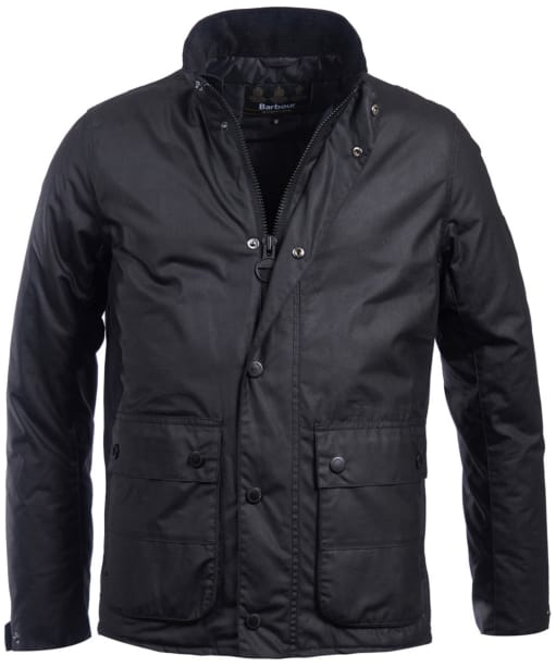 Men's Barbour International Armour Waxed Jacket - Black
