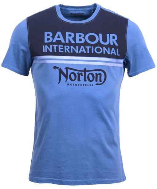 Men's Barbour International Race Stripe Tee - Dusty Chambray