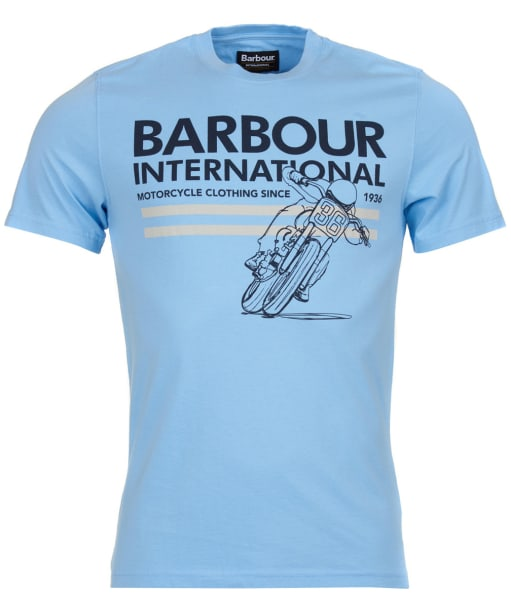 Men's Barbour International Fuel Tee - Ice Blue