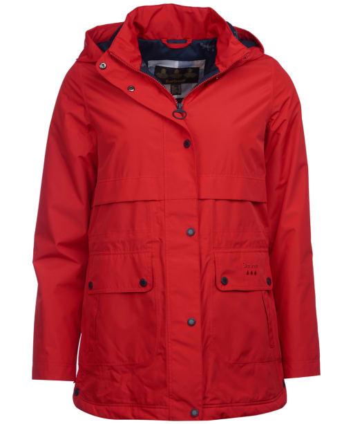 Women's Barbour Altair Waterproof Jacket - Tartan Red