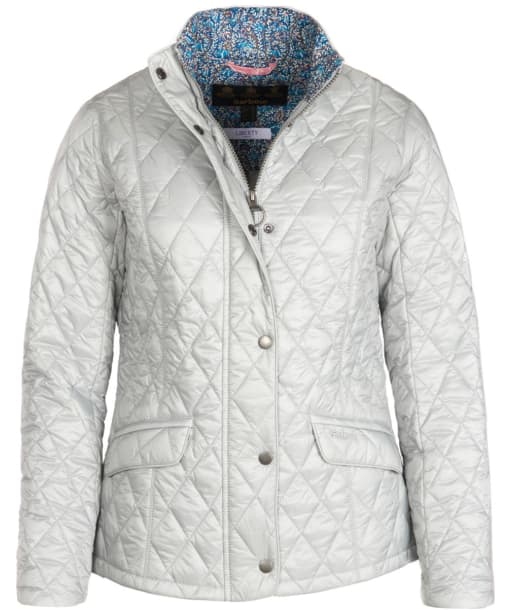 Women's Barbour Victoria Quilted Jacket - Ice White