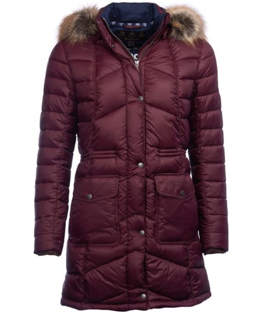 Women's Barbour Hamble Quilted Jacket - Aubergine