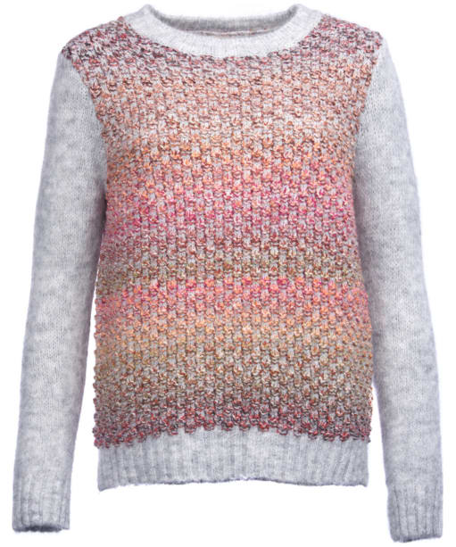 Women's Barbour Hamble Knitted Sweater - Light Grey Marl