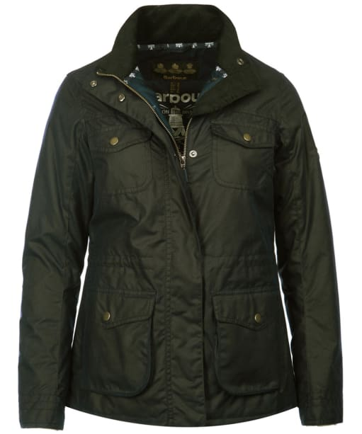 Women's Barbour Rhossili Waxed Jacket - Fern