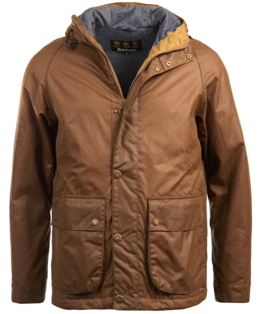 Men's Barbour Nautic Waxed Jacket - Dark Sand