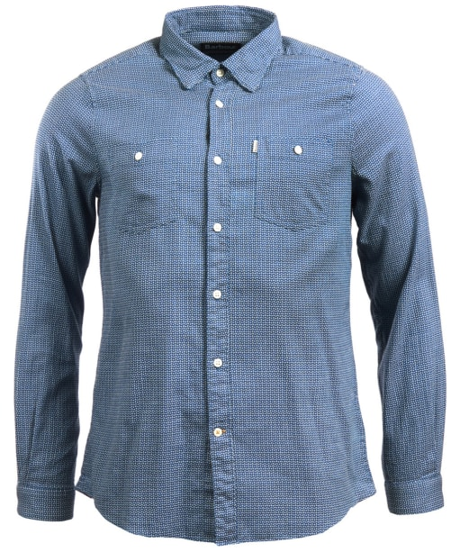 Men's Barbour Somme Jacquard Shirt - Mid Blue
