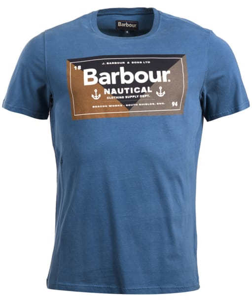 Men's Barbour Flag Tee - Mid Blue
