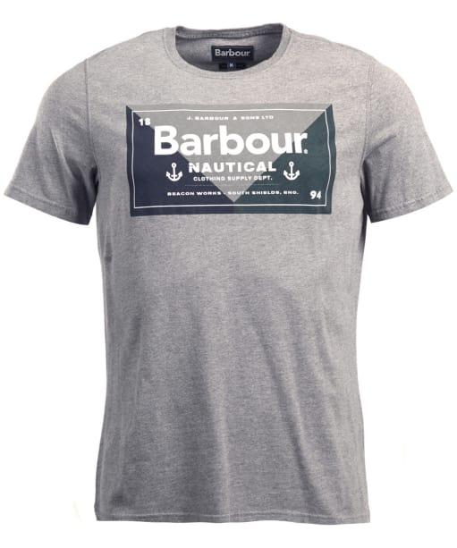 Men's Barbour Flag Tee - Dark Grey Marl