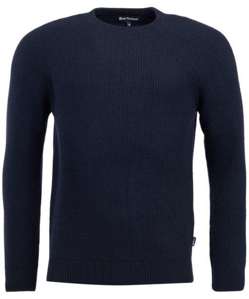 Men's Barbour Manor Crew Neck Sweater - Navy