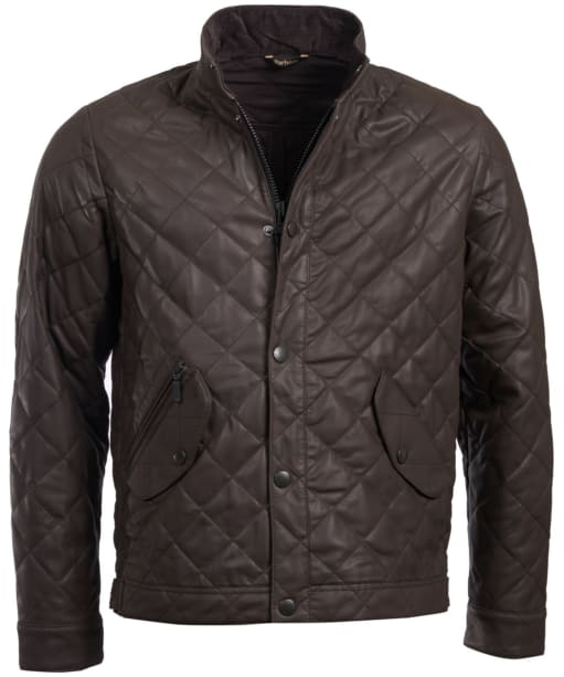 Men's Barbour Peter Leather Jacket - Brown