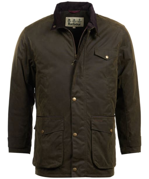 Men's Barbour Cole Wax Jacket - Olive