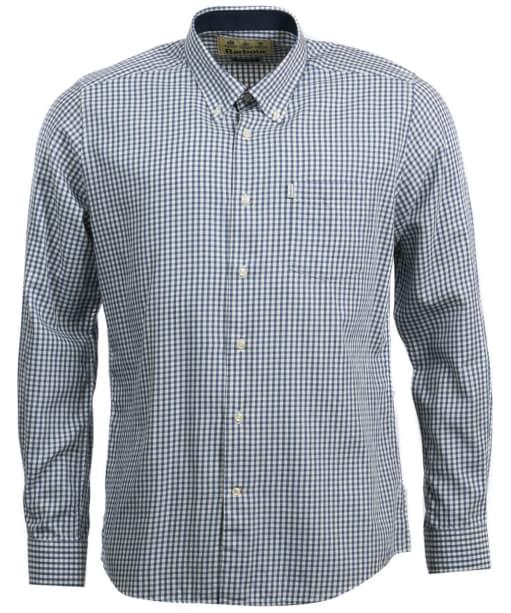 Men's Barbour Swinley Wool Mix Shirt - Navy
