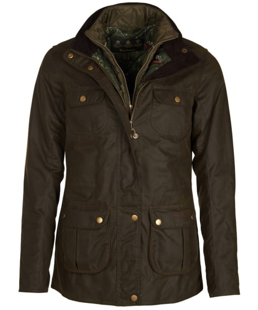 Women's Barbour Chaffinch Wax Jacket - Olive