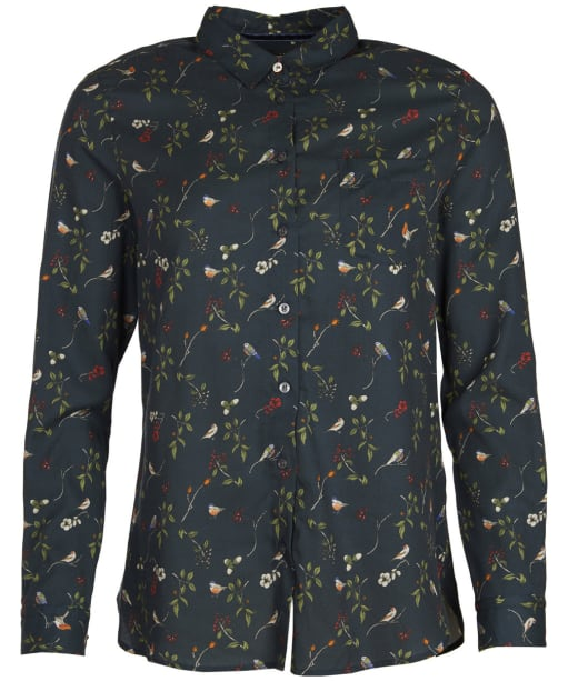 Women's Barbour Siskin Shirt - Navy