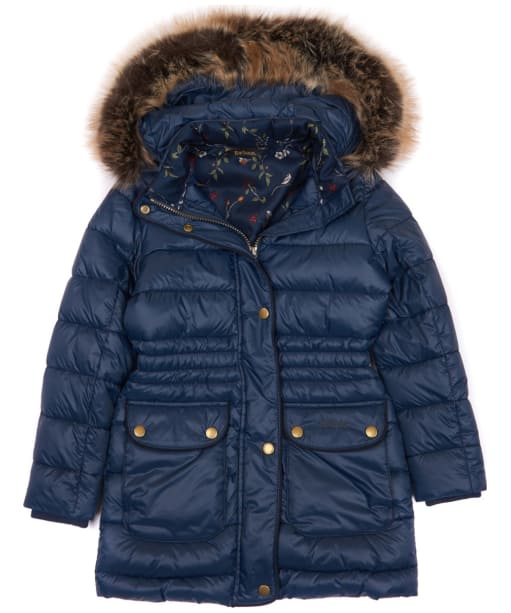 Girl's Barbour Redpole Quilted Jacket, 10-15yrs - Navy