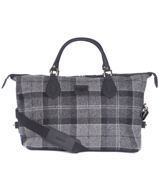 Barbour Shadow Tartan Explorer Bag - Black / Grey Tartan
