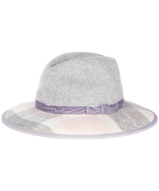 Women's Barbour Thornhill Fedora Hat - Pink Tartan / Grey