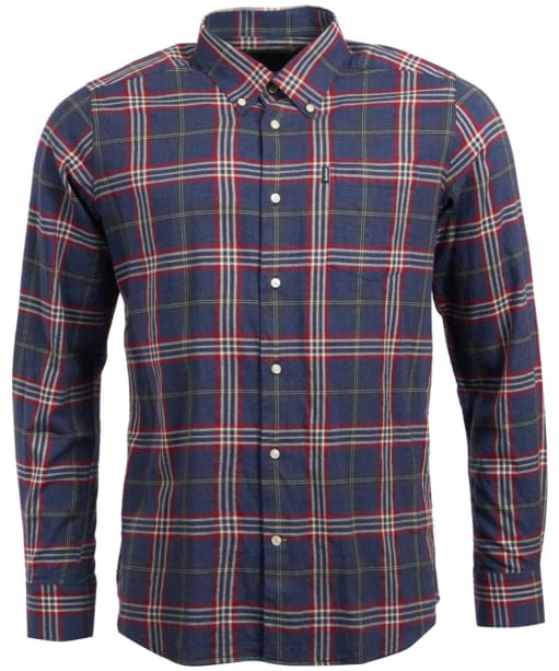 Men's Barbour Stapleton Highland Check Shirt - Charcoal