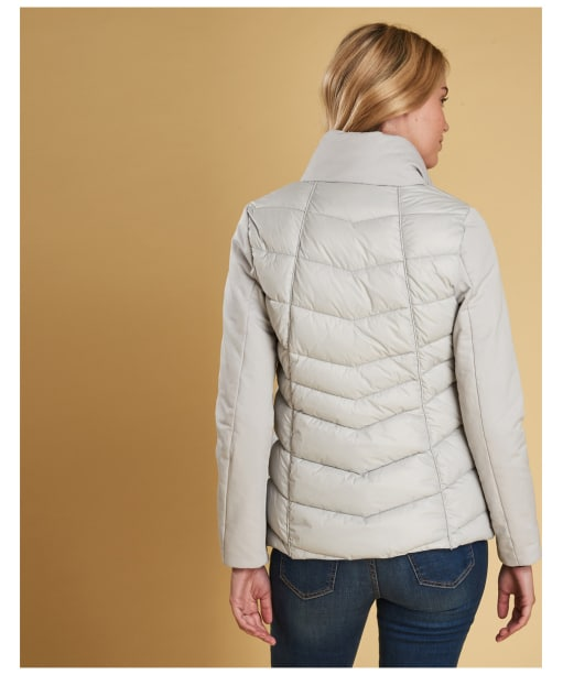 Women's Barbour Hayle Quilted Jacket - Ice White