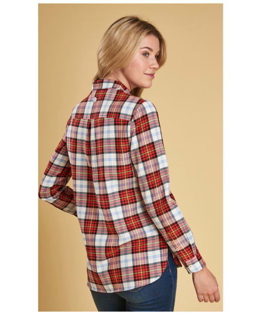 Women's Barbour Hayle Shirt - Reef Red Check