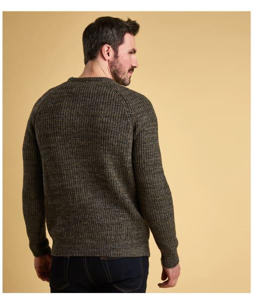 Men's Barbour Horseford Crew Neck Sweater - Olive