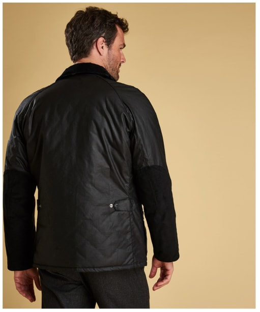 Men's Barbour Strathyre Waxed Jacket - Black