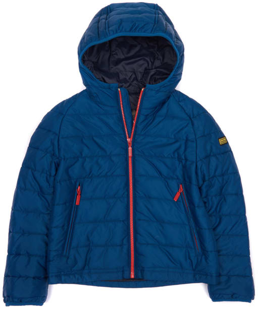 Boy's Barbour International Locking Hooded Jacket, 10-15yrs - Petrol Blue