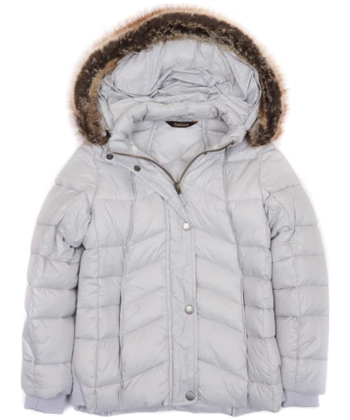 Girl's Barbour Bernera Quilted Jacket, 2-9yrs - Ice White
