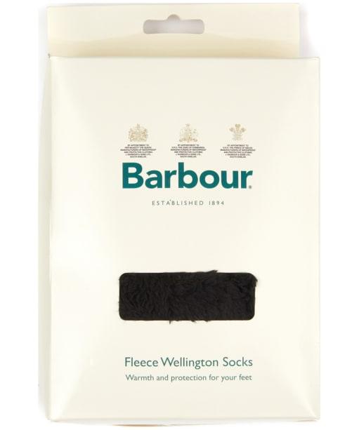 Women's Barbour Bede Fleece Wellington Socks - Black