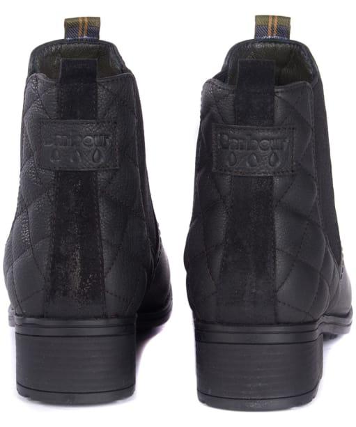 Women's Barbour Rimini Chelsea Boots - Back and Barbour branding