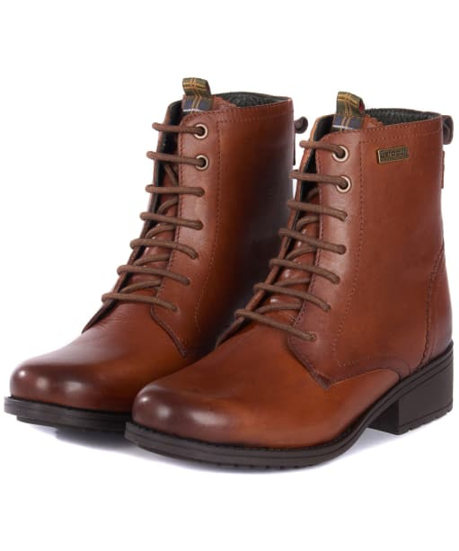 Women's Barbour Roma Derby Boots - Chestnut