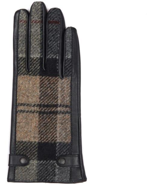 Women's Barbour Galloway Gloves - Winter Tartan / Black