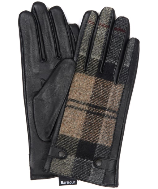 Women's Barbour Galloway Gloves - Winter Tartan / Black