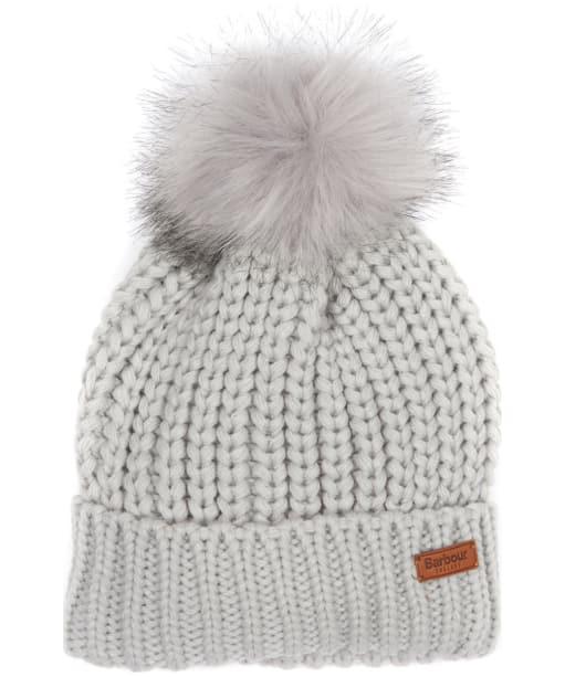 Women's Barbour Saltburn Bobble Hat - Ice White