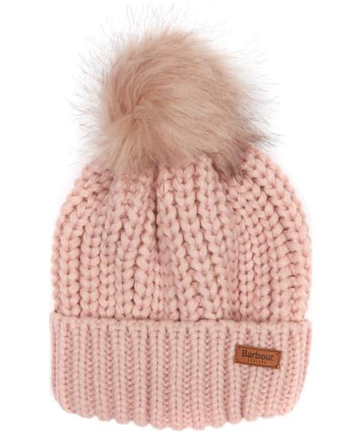 Women's Barbour Saltburn Bobble Hat - Pink