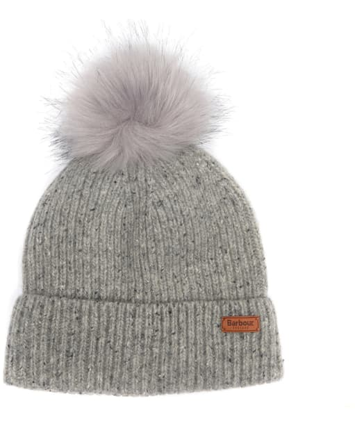 Women's Barbour Weymouth Pom Pom Beanie Hat - Grey