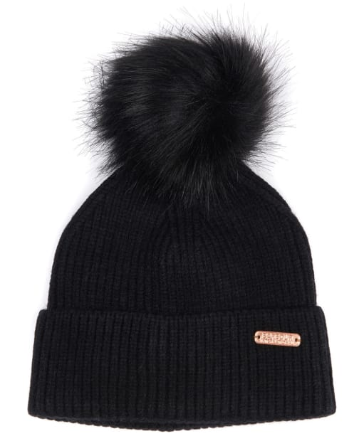 Women's Barbour International Mallory Pom Beanie - Black