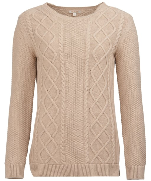 Women's Barbour Leith Crew Neck Sweater - Caramel