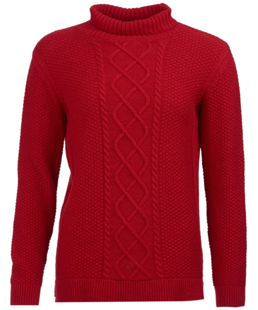 Women's Barbour Leith Roll Collar Sweater - Chilli Red